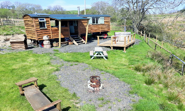 wild glamping, peace and quiet in mid wales